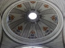 Rome - Volta of a chapel of the Basilica of Saints Ambrose and Charles Royalty Free Stock Images