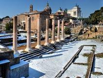 rome Włochy LUTY 27 2018 rzymianina Antyczne ruiny w Rzym W wi Fotografia Stock