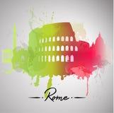 Rome watercolor splash Royalty Free Stock Image