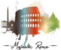 Rome watercolor splash Royalty Free Stock Photography