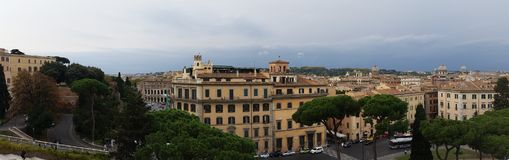Rome wiew from Altare della Patria. Wiew from Altare della Patria Rome, Lazio, Italy Royalty Free Stock Photography