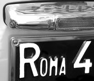 ROME writing on the car number plate of a car Italian Stock Image