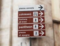 rome znak Zdjęcie Stock