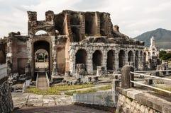 Romein amphitheatre Royalty-vrije Stock Foto's