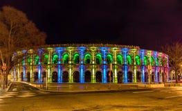 Romein amphitheatre, Arena van Nîmes, - Frankrijk Royalty-vrije Stock Afbeelding