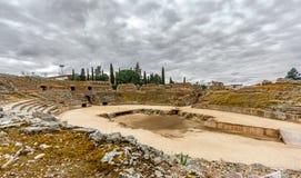 Romein amphitheatre in Merida, Spanje royalty-vrije stock afbeelding