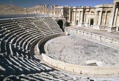 Romein amphitheatre in Palmyra, Syrië Royalty-vrije Stock Foto's