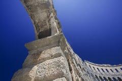 Romein anphitheatre stock afbeeldingen
