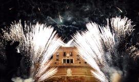 Romein castel in FireWire Royalty-vrije Stock Afbeeldingen