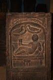 Romein sneed steen met reclinngcijfer in Chester England royalty-vrije stock afbeeldingen