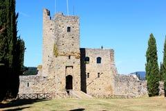 Romena城堡,托斯卡纳,意大利监狱塔  免版税库存照片