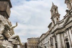 RomeNavona kwadrat w Rzym Fotografia Royalty Free