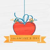 Romentic love bird for Valentine's Day celebration. Stock Image