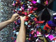 Romeo e cadeado da casa do juliet Fotos de Stock