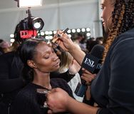 Romeo Hunte Men und Frauen-Modeschau als Teil des New York Fashion Week stockfotografie