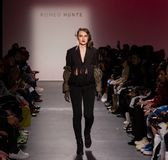 Romeo Hunte Men and Women Fashion show as part of the New York Fashion Week stock image