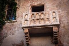 Romeo and Juliet balcony in Verona, Italy Royalty Free Stock Image