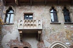 Romeo and Juliet balcony in Verona, Italy Stock Images