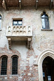 Romeo and Juliet balcony in Verona, Italy Royalty Free Stock Images