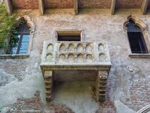 Romeo and Juliet balcony Verona Italy. Famous Romeo and Juliet balcony Verona Italy Stock Images