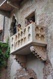 Romeo and Juliet balcony in Verona, Italy Stock Photos