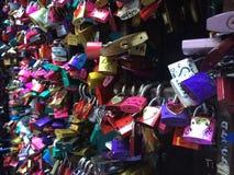 Romeo and juliet house padlocks Stock Image