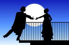 Romeo y Juliet ilustración del vector