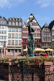 Romer Square in Frankfurt on the Main, Germany Stock Photo