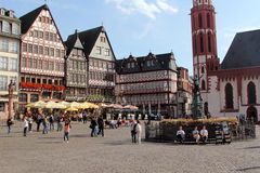 Romer Square in Frankfurt on the Main, Germany Stock Photography