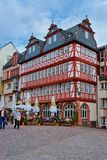 Romerberg in the city center of Frankfurt Germany. Frankfurt am Main, Germany - April 29, 2012: Romerberg in the city center of Frankfurt am Main in Germany Royalty Free Stock Photography