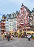 Romerberg City Hall Square in Frankfurt in Germany Stock Images