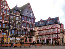 Romerberg, Frankfurt. Half-timbered houses of Romer Square in Frankfurt Stock Photo