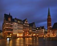 Romerberg plac w Frankfurt magistrala (Roemer kwadrat) - Am - Niemcy zdjęcie royalty free
