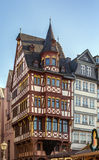 Romerberg square, Frankfurt, Germany. Historical houses on Romerberg square, Frankfurt, Germany Royalty Free Stock Photo