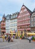 Romerberg urzędu miasta kwadrat w Frankfurt w Niemcy Obrazy Stock