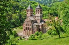 Romersk abbotskloster av Murbach i Alsace Royaltyfria Bilder