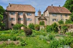 Romersk abbotskloster av Murbach i Alsace Arkivfoto