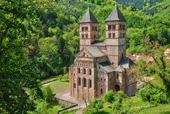 Romersk abbotskloster av Murbach i Alsace Royaltyfri Foto