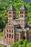 Romersk abbotskloster av Murbach i Alsace Fotografering för Bildbyråer