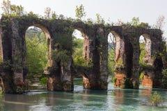 Romersk akvedukt i byn av Agios Georgios Preveza Greece Fotografering för Bildbyråer