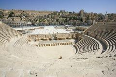 Romersk amfiteater av den Amman Jordanien Fotografering för Bildbyråer