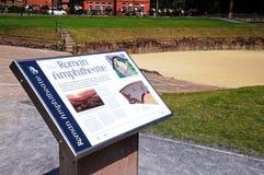 Romersk amfiteater, Chester Arkivbilder