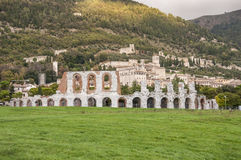Romersk amfiteater i Gubbio Arkivfoton