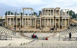 Romersk amfiteater i Merida Spain Royaltyfria Bilder