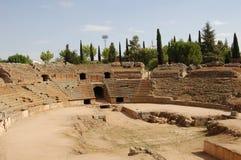Romersk amfiteater i Merida (Spanien) Arkivbilder