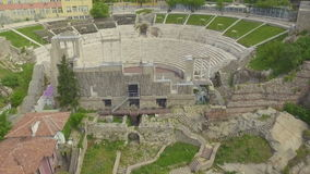 Romersk amfiteater i Plovdiv lager videofilmer