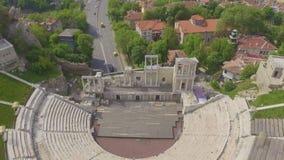 Romersk amfiteater i Plovdiv arkivfilmer