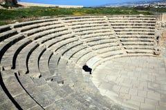 Romersk amfiteater, Paphos, Cypern Royaltyfria Foton