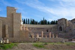 Romersk amphitheater i Cartagena Fotografering för Bildbyråer