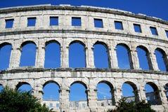 Romersk Amphitheater i Pula Fotografering för Bildbyråer